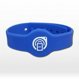 Pulseira de silicone ajustável - NTAG203 - Azul