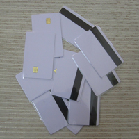 Cartão PVC com Chip de contato e banda magnética de alta (SLE 4442 Chip & HiCo )